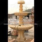 Высекать & скульптуры мраморный каменный фонтан Mf-224 света золота пустыни гранита