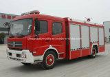 Vrachtwagen van de Motor van de Tanker van het Schuim van de Cabine van Dongfeng 4X2 de Dubbele Brandblus