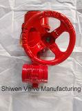 Válvula de borboleta da bolacha da engrenagem do ferro de molde para a luta contra o incêndio