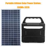 150wh Gerador de energia solar Bateria de lítio Início Sistema solar com painel solar