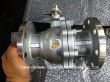 2PC de roestvrij staal Van een flens voorzien Drijvende Kogelklep van het Type