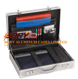 """17 solos """" cas en aluminium d'attaché de l'ordinateur portable, serviette de Hardsided"""