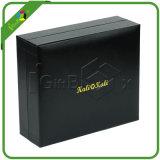 까만 가짜 가죽 종이 선물 수송용 포장 상자