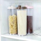 3 L contenitore di memoria di plastica trasparente rotondo dell'alimento Containers/PS della cucina libera