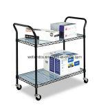 Cesta ajustable de la cesta del metal / carro de la cesta para el almacenaje del archivo / del papel (TR753590A2CW)