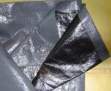 Feuille en plastique noire de bâche de protection