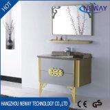 Klassischer Entwurfs-Fußboden-stehender Edelstahl-Badezimmer-Schrank