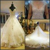 Vestidos de casamento nupciais CS3 do laço da forma de Vestidos dos vestidos de esfera dos cristais