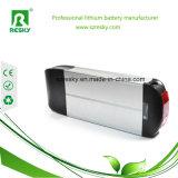 paquete fino de la batería de ion de litio de la E-Bici del portador trasero del estante de 36V 12ah