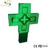 屋外の100cm Green LED Pharmacy Cross Sign P20