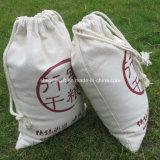 Bolsa de encargo de la lona del algodón barato %100 de la impresión