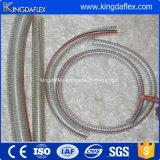 Boyau spiralé d'aspiration de l'eau de PVC de fil d'acier