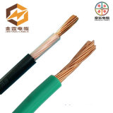 Cabo de fio elétrico flexível isolado PVC de cobre do núcleo