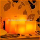 مربّعة شكل [لد] شمع شمعة/يرفرف شمعة عديم لهب, مهرجان شمعة