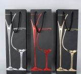 Saco relativo à promoção do papel do vinho da forma para o pacote de empacotamento do presente da compra