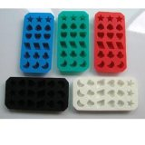 Bandeja relativa à promoção plástica do cubo do bolo de gelo do silicone da alta qualidade (042)