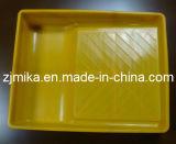 Поднос краски желтого цвета пластичный