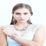 Neue Entwurfs-Kristall-Stein-Perlen-Punkt-Form-Schmucksache-gesetzte Ohrring-Halskette
