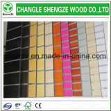 Fabriqué en usine 13-18mm Melamine / PVC Slotted Groove MDF Board