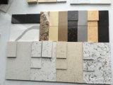 ベージュカラー砂の水晶石の水晶平板の水晶カウンタートップ