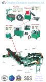 Neumático inútil que recicla la cadena de producción