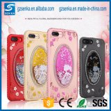 Crystal Diamond 3D Liquid Quicksand TPU Case para iPhone 7 Plus