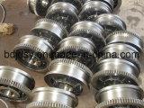 La rotella di alluminio della puleggia della pressofusione