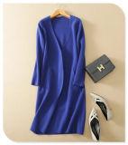 Пальто кардигана V-Шеи кашемира Knitwear повелительниц толщиное чисто с длинней втулкой