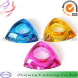 多彩な三角形の形のTealightのガラス蝋燭ホールダー(CKGCR130228)