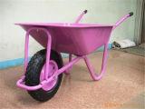 Único Wheelbarrow Wb5009 da roda com bandeja colorida
