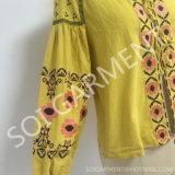 Пальто новой вышивки хлопка способа типа тонкое для одежды женщин (CA-01)