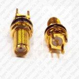황금 SMA 여성 잭 연결관 똑바른 끝 발사 땜납 PCB 마운트 RF 연결관 접합기