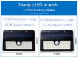 Indicatore luminoso solare esterno alimentato solare esterno del sensore di movimento dei 45 LED