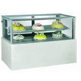 Torta del acero inoxidable del escaparate / torta Exhibidor / torta exhibición comercial Escaparate Frigorífico