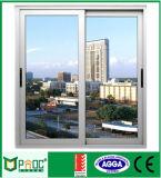 Ventana de desplazamiento de aluminio de Pnoc080410ls con el vidrio coloreado