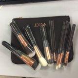 Luxe professionnel rose/noir 8PC/Set réglé de nécessaire de balai de renivellement de Zoeva composent l'outil