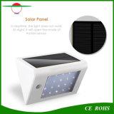 La lumière solaire de garantie, imperméabilisent la lumière actionnée solaire de mur de 20 DEL 350 lumières solaires extérieures de lumens avec l'éclairage solaire de 3 modes le patio et la cour de porche