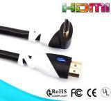 90 câble à angle droit 1080P du degré HDMI