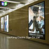 Cornice di alluminio del LED per la pubblicità del segno sottile della casella chiara del LED