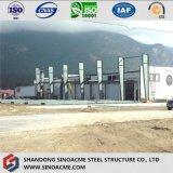 Конструкция мастерской стальной структуры с большой пядью