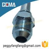 Varón métrico hidráulico 10711 guarnición de manguito de aluminio apropiada del acoplador de manguito del cono de 74 grados