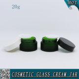 20ml緑色の曇らされた空のガラス瓶