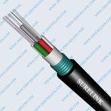 Câble optique blindé de fibre de SM de noyau de GYXTW 2