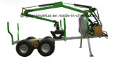 Cer Certificate Timber Trailer mit Crane Lwc-154