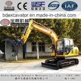 Petites excavatrices de chenille de la Chine Baoding pour le bois/canne à sucre/paille/pierre de Graspping
