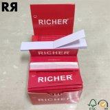 Des papiers de roulement plus riches de tabac de Weed de cigarette d'OEM 18GSM avec des extrémités