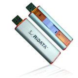 USB branco prateado do plástico 8GB, movimentação da pena do USB, movimentação do flash do USB (PZP914)