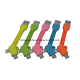 câble usb de 9cm Mini Portable Flat 2 in-1 Key Chain