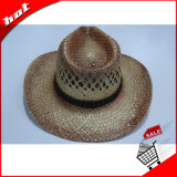 Gedruckter Seegras-Stroh-Cowboy-fördernder Hut