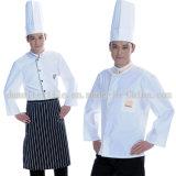 Algodón y tela ejecutiva de los uniformes del cocinero del diseñador de los uniformes del Workwear de Polycotton